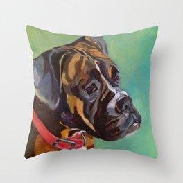 Boxer Dog Keeley Pet Portrait Throw Pillow