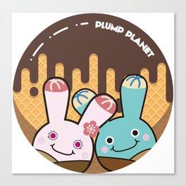 Plump Planet Donut Canvas Print