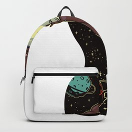Basketball in space Backpack