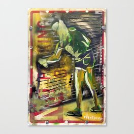 No Parking Rollup Tagger Canvas Print
