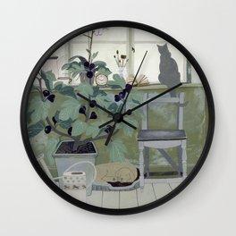 Indoor Garden With Fig Tree Wall Clock
