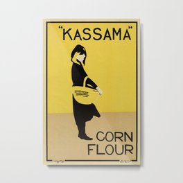 Vintage minimalist corn flour ad Beggarstaffs Metal Print