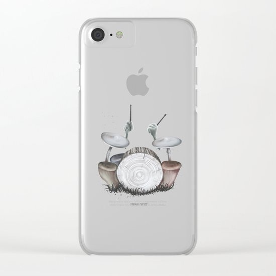 Mushroom drums Clear iPhone Case