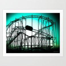 Wild Cat Roller Coaster Art Print