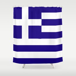 Greece flag emblem Shower Curtain