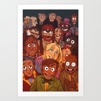 muppets Art Prints featuring The Muppets by Groovy Bastard