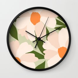 Freya's flower - greenery Wall Clock