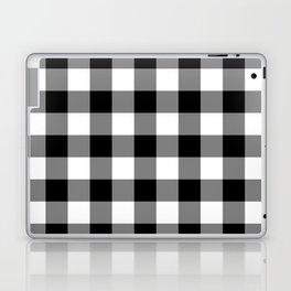 Gingham (Black/White) Laptop & iPad Skin