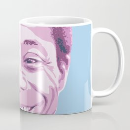 James Baldwin Portrait Blue Purple Coffee Mug