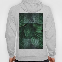 tropical green pattern on black Hoody