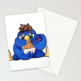 Chubby Bird Nuddles full figured diet present Stationery Cards