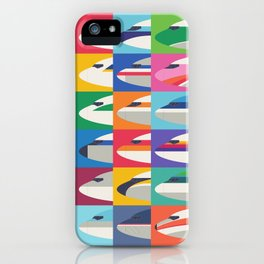 Retro Airline Nose Livery Design - Grid Large iPhone Case
