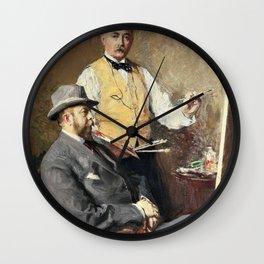 In the Studio - Julius Garibaldi Melchers Wall Clock