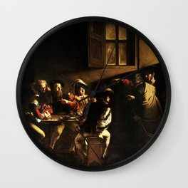 The Calling Of St Matthew Depiction By Caravaggio Wall Clock