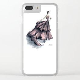 Audrey Hepburn in Pink dress vintage fashion Clear iPhone Case
