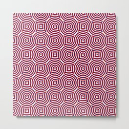 Spirales about red Metal Print