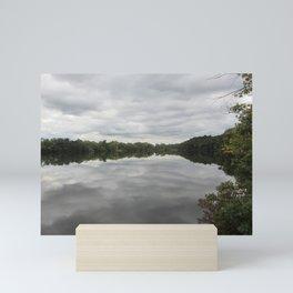 Cloudy Lake Mini Art Print