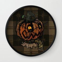 Patchwork Jack o' lantern Wall Clock