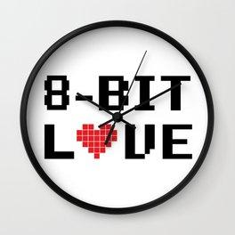8 Bit Love Wall Clock