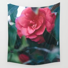 Pink Camellia Wall Tapestry