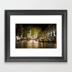 Funchal Madeira at Night Framed Art Print
