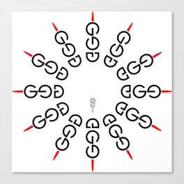 god/ego Canvas Print