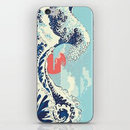 The Great Wave off Kanagawa stormy ocean with big waves iPhone Skin