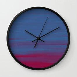 Bluered Acrylic Wall Clock