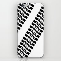 truck iPhone & iPod Skins featuring Tyre Truck by Arhipelago