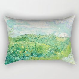 Green Wheat Fields - Auvers, by Vincent van Gogh Rectangular Pillow