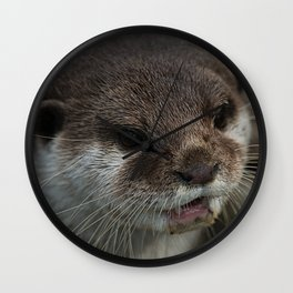Otterly Sweet Face Wall Clock