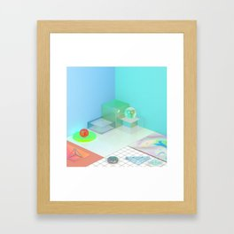The Girl With X-Ray Eyes Framed Art Print