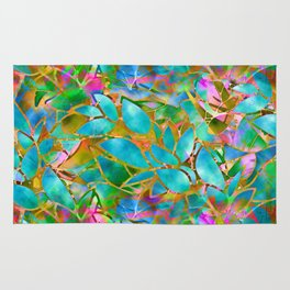 Floral Abstract Stained Glass G265 Rug
