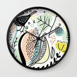 Forest birds Wall Clock