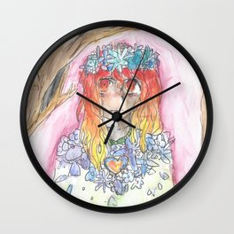 Fire meets water Wall Clock