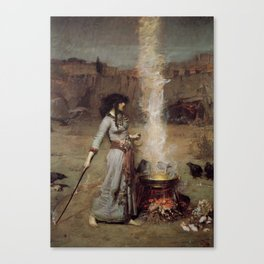 The Magic Circle, John William Waterhouse. Canvas Print