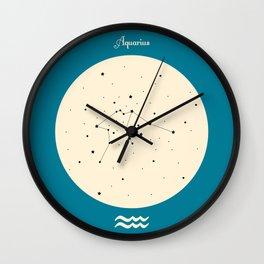 Aquarius - Blue Wall Clock
