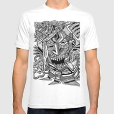 Geometric Mutations: Time to Wake Up Mens Fitted Tee MEDIUM White