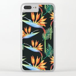 Birds of Paradise Clear iPhone Case