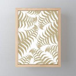 Fern Leaves Pattern - Golden Dream #2 #ornamental #decor #art #society6 Framed Mini Art Print