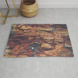 Rustic Layered Rock Texture Rug