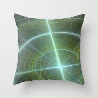 compass Throw Pillows featuring Compass by C Juarez