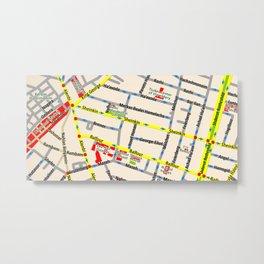 Tel Aviv map - Shenkin Area Metal Print