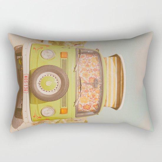 let's ride through europe Rectangular Pillow