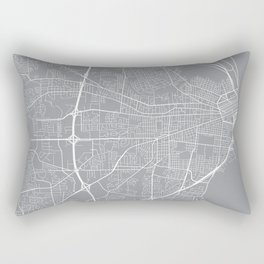 Mobile Map, Alabama USA - Pewter Rectangular Pillow