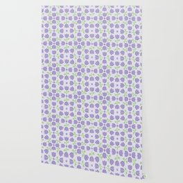 Little Purple Tulip Pattern Wallpaper