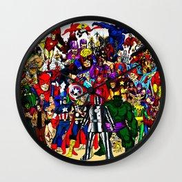 super hero all anime Wall Clock