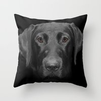 charmaine olivia Throw Pillows featuring Olivia by Vix Edwards - Fugly Manor Art
