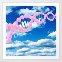 dna Art Prints featuring DNA by REINE Mihtla