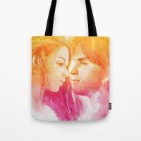 valentine Tote Bags featuring Valentine by Aurora Wienhold